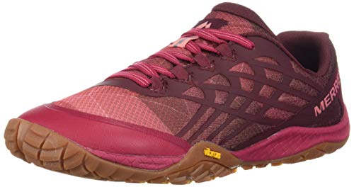 Merrell Women's Trail Glove 4 Hiking Shoe, Persian Red, 7