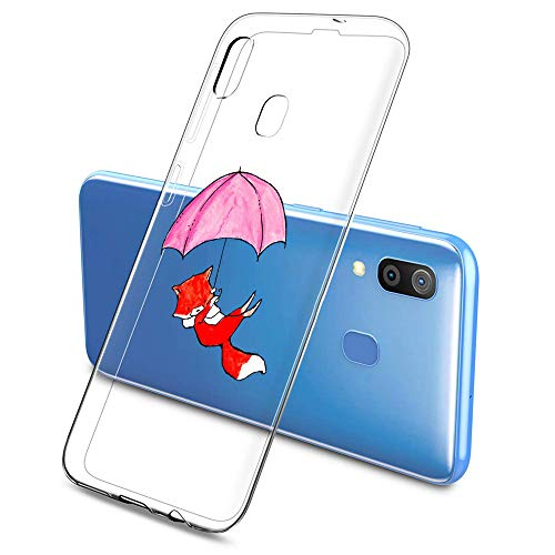Oihxse Compatible pour Silicone Samsung Galaxy S7 Coque Crystal Transparente TPU Ultra Fine Souple Housse avec Motif [Elephant Lapin] Anti-Rayures Protection Etui(B6)