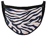 Dilara Maske aus 100% Baumwolle für Gesicht mit Motiv Zebra - Modisch und modern mit Zebramuster für Damen (Zebraprint rosa)