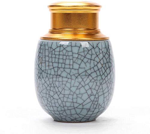 LDDLEI Funeral urna Urnas mamá urna for Cenizas humanas Visualizar entierro urna en casa o en un nicho Columbario Recuerdos Retro cerámica de Alta Temperatura GPFFACAI