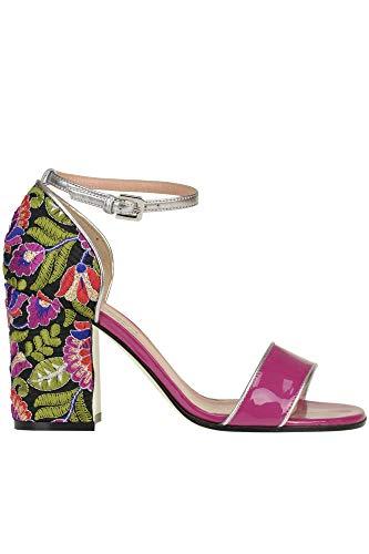 Pollini Luxury Fashion Damen MCGLCAT0000B7058E Fuchsia Leder Sandalen | Jahreszeit Outlet