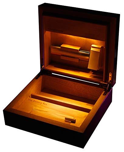Wilhelm Werner The Rolling Box Regia 210 Drehkiste mit Licht; Beleuchteter Humidor, Jointbox mit LED