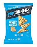 Popcorners Snack Pack, Gluten Free Chips, White Cheddar, 1 Ounce (Pack of 20)
