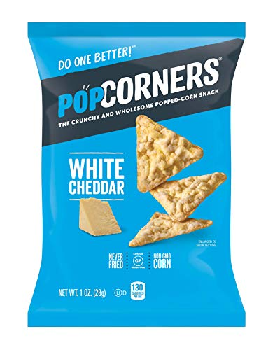20-Pack Popcorners Snack Pack, Gluten Free Chips, White Cheddar, 1 Ounce as low as $8.60 with S&S