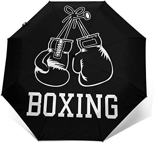 Guantes de boxeo automáticos de tres pliegues paraguas sombrilla sombrilla exterior