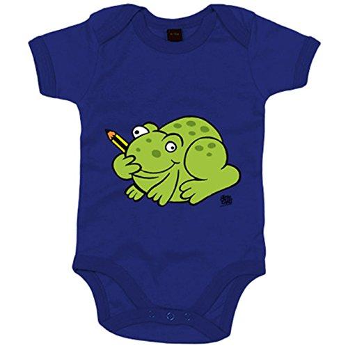 Body bebé El sapo Tolo - Azul Royal, Talla única 12 meses
