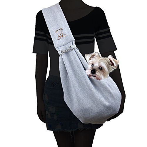 Alfie Pet - Chico Reversible Pet Sling Carrier - Color: Grey
