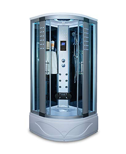 Shower Room With LCD Display Massage Jets LED Lights Radio 8004-AS, Home Modern SPA, Freestanding,...