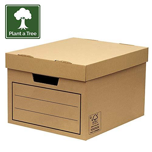 Bankers Box 00154, Caja de almacenamiento, marrón, pack de 10 unidades