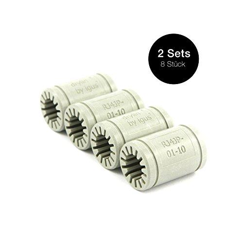 Igus ® Gleitlager 10mm - DryLin ® R - RJ4JP 01-010 (8 Stück)
