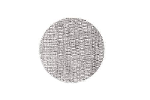 LIFA LIVING runder Handangefertigter Wollteppich im Vintagestil, 100% Wolle 150cm (Schwarz/Weiß)