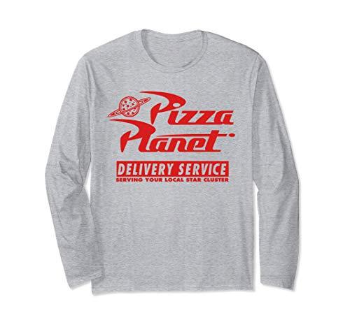 Disney PIXAR Toy Story Pizza Planet Delivery Red Logo Manga Larga