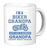 I'm Biker Grandpa. Just Like a Normal Grandpa Except Much Cooler. Funny Unique Novelty Coffee Mug Cup 11 OZ Motorcycle Birthday Gift Present for Him. by KTM