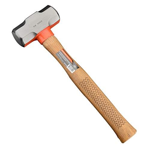 Edward Tools Pro 3 Pound Sledge Hammer - Heavy Duty Harden Steel Mini Sledge Hammer for Drilling, Chisels, Nail, Rebar, Kindling Crack Hammer - Solid Anti Reverberation Oak Handle