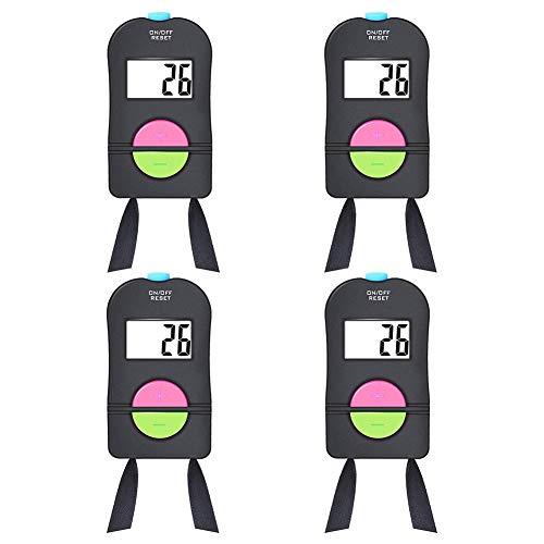 Timagebreze Contador de Mano Digital de 4 Piezas Contador de Deportes de Clicker ElectróNico Contador de de Mano con CordóN para el Cuello