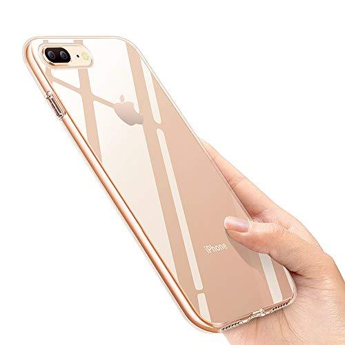 otumixx iPhone 8 Plus Handyhülle, iPhone 7 Plus Silikon Hülle, Crystal iPhone 8 Plus Hülle Ultra Dünn Anti-Shock Soft TPU Bumper Schutzhülle für iPhone 8 Plus/iPhone 7 Plus Case Cover, Transparent