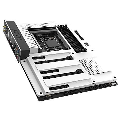 NZXT N7 Z390 – Entworfen mit Intel Z390-Chipsatz (Unterstützt CPUs der 8.-9. Generation) – ATX Gaming-Motherboard – Integriertes I/O-Shield – Intel Wireless-AC 9560 – Zwei Anschlüsse für M.2 – Weiß