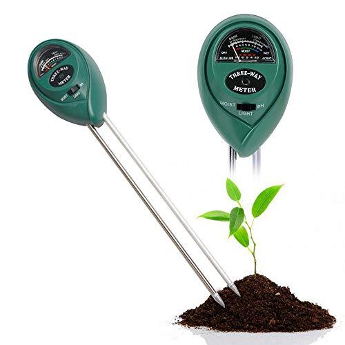 Litthing Probador de Humedad del Suelo Medidor de Suelo Medidor de Acidez pH Monitor de Agua del Suelo para Plantas Probador de Suelo Flor Césped Jardín Interiores y Exteriores (Estilo 3)