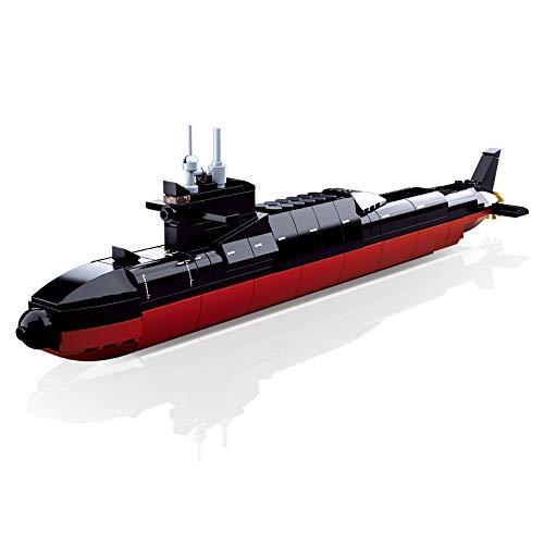 Sluban Klemmbausteine SL95573 Atom U-Boot II (269 Piezas) [M38-B0703], Juego de Bloques de construcción, Soldados, con Figura de Juego, Army, Multicolor