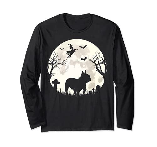 Halloween Moon French Bulldog Costume Dog Lover Long Sleeve T-Shirt