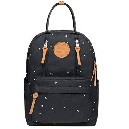 KAUKKO Laptop Rucksack Einfacher und Unisex Daypack Handtasche für Schul Reisen für 10 Zoll Notebook,26 * 14.5 * 36cm/ 13L