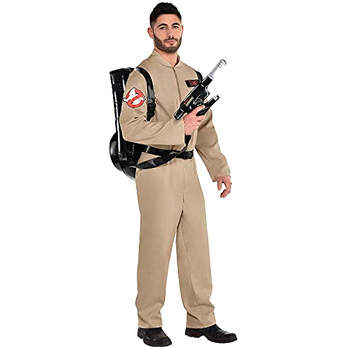 Party City Ghostbusters Halloween Costume with Proton Pack for Adults,...