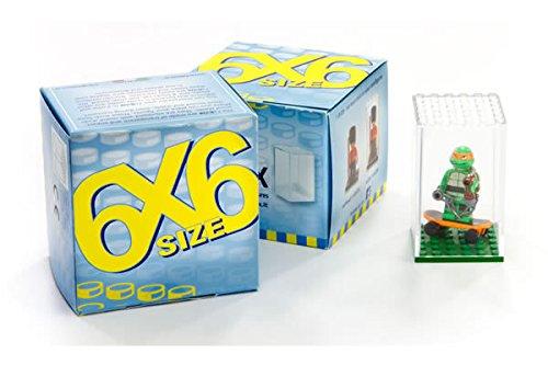 Fabiox 4 Pieza 6x6 Transparente/Transparente Cajitas Exhibidoras Colección Vitrina Ideal para Lego Figuras…
