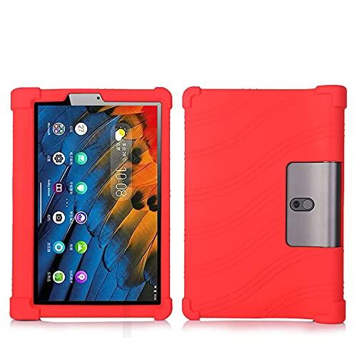 LEHEE Funda para Lenovo Yoga Pad Pro 13' YT-K606F, Silicona Skin Soporte Cubierta a Suaves para niños de Peso liviano Funda para Lenovo Yoga Pad Pro 13' YT-K606F, Rojo