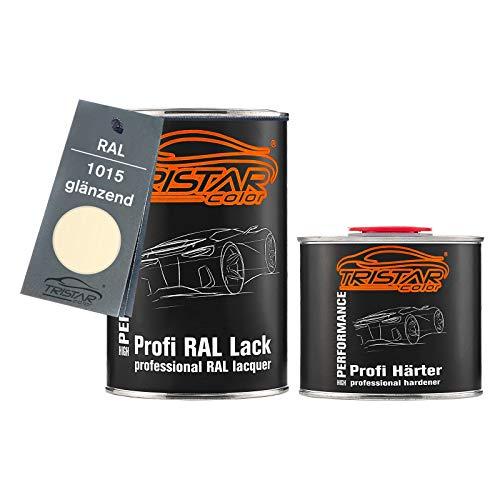 TRISTARcolor RAL 1015 Hellelfenbein glänzend 2K Autolack 1,5 Liter / 1500 ml Dose inkl. Härter