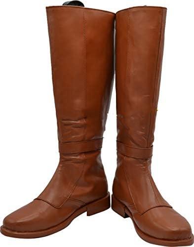 Telacos OBI Wan Cosplay Kenobi Chaussures Marron Bottes Fait sur mesure