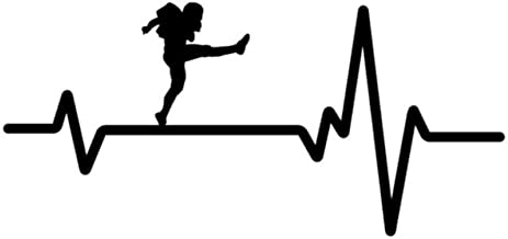 Gráficos de autoadhesivos Football Punter Kicking Ball Punt Heartbeat Vinyl Car Sticker 16.4CM * 7.7CM 2 piezas