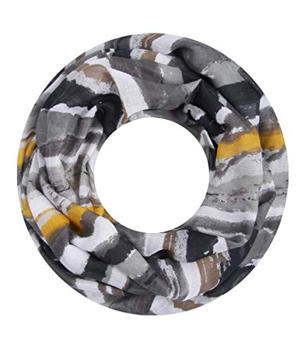 Majea super weicher Damen Loop Schal viele Farben Muster Schlauchschal Halstuch in aktuellen Trendfarben (grau 14)