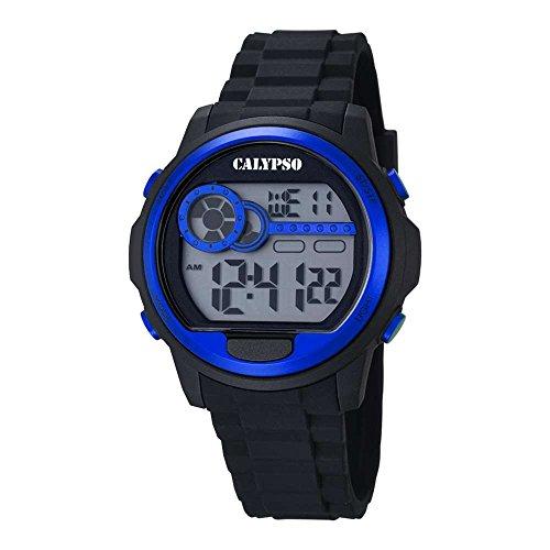 CALYPSO Reloj Unisex Digital Negro Azul - K5667-3