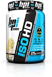 BPI Sports ISO HD Whey Protein Isolate and Hydrolysate, Vanilla Cookie, 1.7 Pound