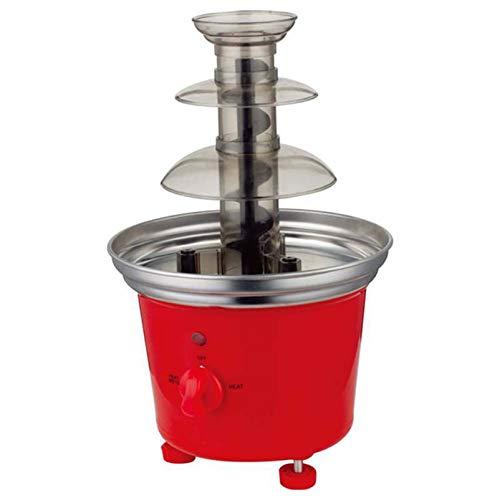 Elektrische 3-Stufige Schokoladenbrunnen-Fondue-Maschine Mit Heißem Schmelztiegelboden 2 Einstellbare Einstellungen Und Warmhaltefunktion