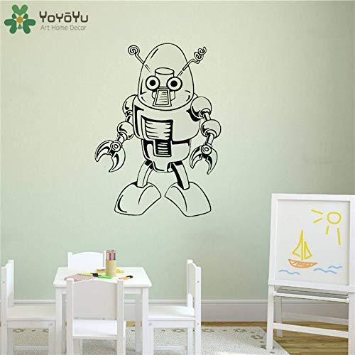 zhuziji Wandtattoo Roboter Wandaufkleber Vinyl Wandmalerei Boy Room Wohnzimmer Möbel Aufkleber Art Deco 93x68cm