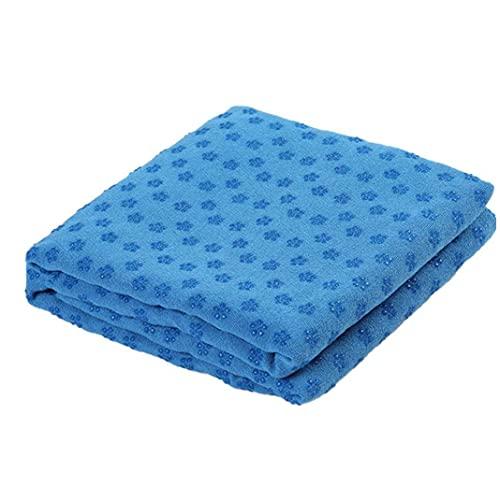 Toalla De La Yoga, Yoga Antideslizante Súper Toalla Sudor Absorbente Hot Yoga Toallas para Pilates Y Yoga Azul