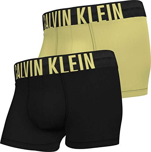 Calvin Klein Trunk 2PK Bermuda, Nero/Giallo Pop, S Uomo