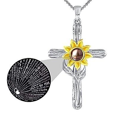 SNZM Sunflower Necklace for Women Girlfriend, Y...
