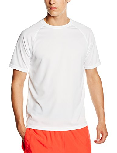 Fruit of the Loom Ss074m Camiseta, Blanco, Small para Hombre