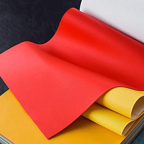 BTHAO Polipiel PU Tela de imitación Colores sólidos de Cuero sintético de Cuero de Piel de Vinilo Tela Casete Material texturado Vendido por Metro por 1 Metro x 140 cm (Color : 9#)