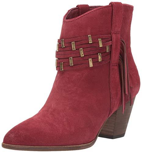 Frye Women's Reed Showdown Stud Ankle Boot, Ruby, 7.5 Medium US