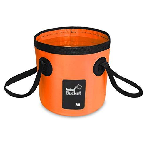 FH Seau Portatif De Grande Capacité 20L, Bassin De Lavage Extérieur De Voyage Multifonctionnel, Camping, Randonnée, Pêche À Laver (Couleur : Orange)