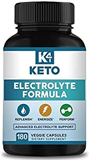 K4 Keto Electrolyte Supplement - 180 Capsules - Electrolytes Replacement, Rehydration & Recovery - Energy Hydration Pills to Support Ketogenic Diet & Ketosis - Salts, Magnesium, Sodium & Potassium