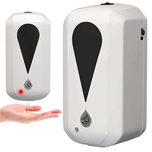 Automatic Touchless Gel Hand Sanitizer Dispenser,Wall Mounted 1200ml Refiilable Sensor Smart Dispenser,Suitable for All Gel Hand Sanitizer