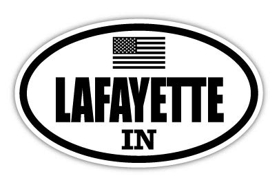 Lafayette in Indiana Tippecanoe County Stealthy US Flag Euro Decal Bumper Sticker 3M Vinyl 3' x 5'