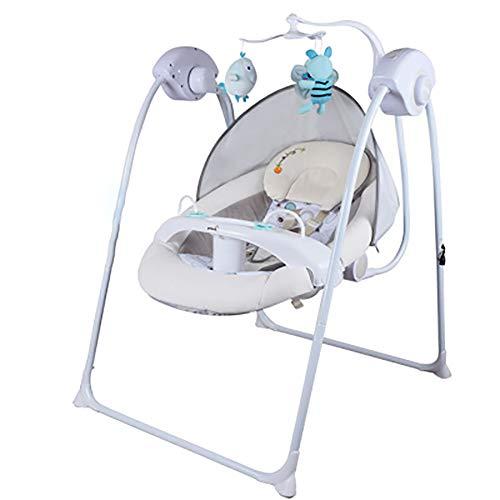 2-in-1 elektrische infant swing chiar en tron chair, met 3D Hard Basin Swing Seat, opvouwbare kam voor Born Baby Hammock Rocker Bouncer