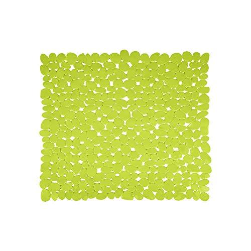 MSV 140888Galets Duscheinlage PVC grün 53x 53x 0,1cm