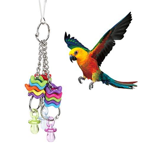 【𝐕𝐞𝐧𝐭𝐚 𝐑𝐞𝐠𝐚𝐥𝐨 𝐏𝐫𝐢𝐦𝐚𝒗𝐞𝐫𝐚】 Juguete para pájaros no tóxico, Juguete para Loros, con Gancho para pezones, Animales para Loros, Mascotas, pájaros