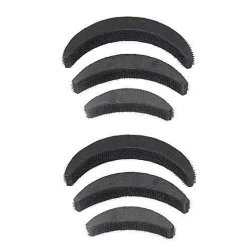 6 Pcs Bricolage Cheveux Volume Augmenter Puff Éponge Pad Bump Up Insert Base De Coiffure Sophistiquée Accessoires Cheveux Noir